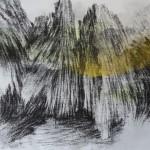 Pintura#28, 2016, óleo, carvão e tinta sintética sobre tela, 46 x 55 cm